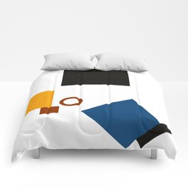 Geometric Abstract Malevic #5 Comforters