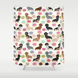 Dachshund weener dog donuts cutest doxie gifts for small dog owners Shower Curtain