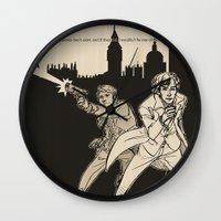 heroes Wall Clocks featuring Heroes by salternates