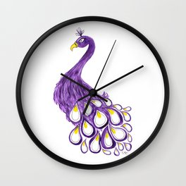 Purple Priscilla Wall Clock