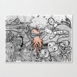 Awkward Octopussy Canvas Print