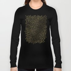 Gold Berry Branches on Black Long Sleeve T-shirt