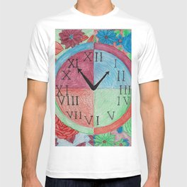 The Seasons Clock with Florals T-shirt