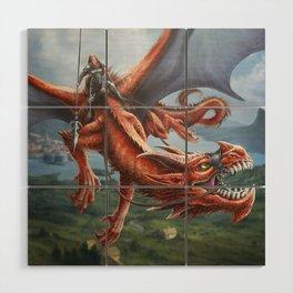 Dragon Rider Wood Wall Art