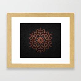 The Flower of Life - Ancient copper Framed Art Print