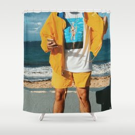 Bad Bunny - Bad Bunny Yellow Shower Curtain