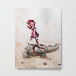 ride the croco Metal Print