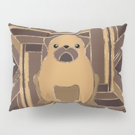 Art Deco Pug dog - Pastel Gold Pillow Sham