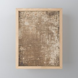 Cement Weathered Brown Abstract Photograph Framed Mini Art Print