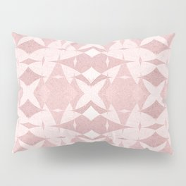 Pastel Coral Ancient Near East Geometric Pillow Sham