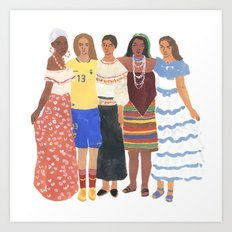 Ecuadorian Girls Art Print