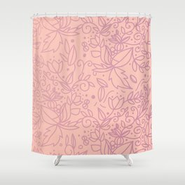 Organic flower pattern in pink gradient Shower Curtain