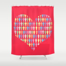 The Heart of the People Shower Curtain