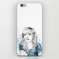 emma stone iPhone & iPod Skins featuring Emma by naidl