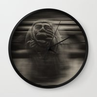 medieval Wall Clocks featuring Medieval angst by Mark Nelson