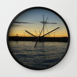 Sails and Sunsets Wall Clock