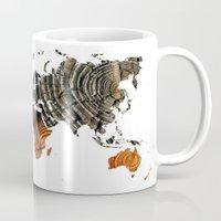 tree rings Mugs featuring Tree Rings  by VRose