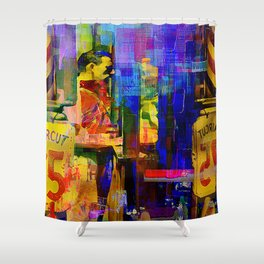 At the hairdresser Shower Curtain