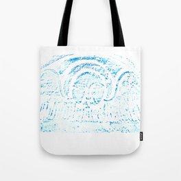 Blue Headstone Tote Bag