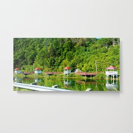 Seaside Reststop Metal Print