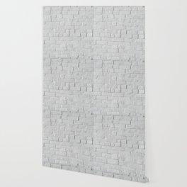 White Brick Wall (Black and White) Wallpaper