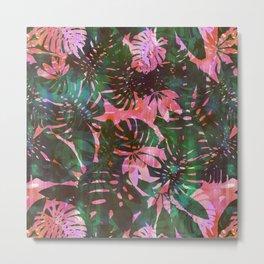 Motuu Tropical Pink & Green Metal Print