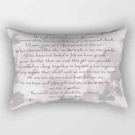 Through years and passing tides Rectangular Pillow