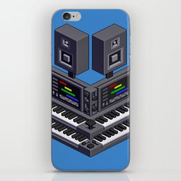 Electronic music altar — isometric pixel art iPhone Skin