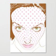 Pop art face Canvas Print