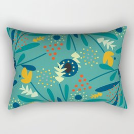 Floral dance in blue Rectangular Pillow