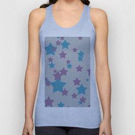 Stars light purple grey Design Unisex Tank Top