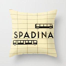 Spadina Subway Station Throw Pillow