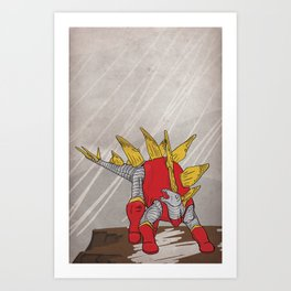 Stegolossus - Superhero Dinosaurs Series Art Print