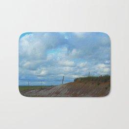 Kansas Country Landscape with blue sky. Bath Mat