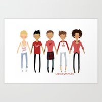 valentines Art Prints featuring Valentines by cargline