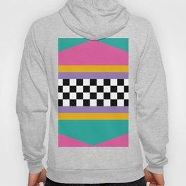 Checkered pattern grid / Vintage 80s / Retro 90s Hoody
