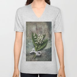 Beautiful Lily Of The Valley Unisex V-Neck