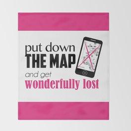 Get wonderfully lost! Throw Blanket