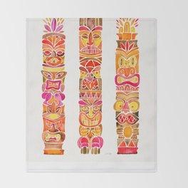 Tiki Totems – Fiery Palette Throw Blanket