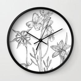 Garden of flowers Wall Clock