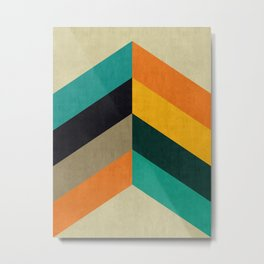 Minimalist and colorful chevron Metal Print