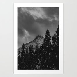 North Cascade Winter Blizzard Art Print