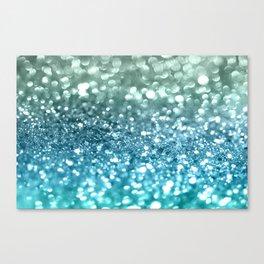 Seafoam Aqua Ocean MERMAID Girls Glitter #4 #shiny #decor #art #society6 Canvas Print