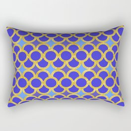 Blue Gold Scales Rectangular Pillow