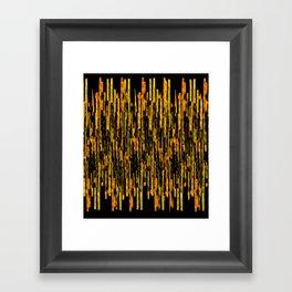 vertical brush orange version Framed Art Print