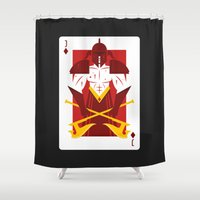 berserk Shower Curtains featuring Jack of Diamonds - Warrior Jack by Thirdway Industries Shop