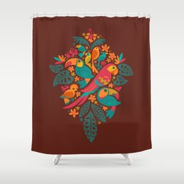 Tropicana (retro) Shower Curtain