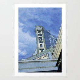 Cinema In Blue Art Print