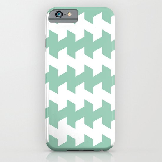 jaggered and staggered in grayed jade iPhone & iPod Case