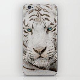 WHITE TIGER GAZE iPhone Skin